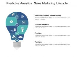 Predictive Analytics Sales Marketing Lifecycle Marketing Competitor Analysis Cpb