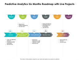Predictive Analytics Six Months Roadmap With Live Projects
