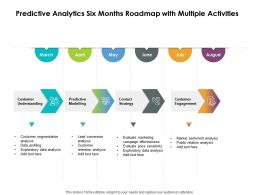Predictive Analytics Six Months Roadmap With Multiple Activities