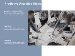 Predictive Analytics Steps Ppt Powerpoint Presentation Summary Example Cpb