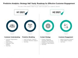 Predictive Analytics Strategy Half Yearly Roadmap For Effective Customer Engagement