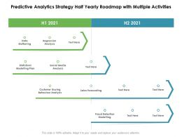 Predictive Analytics Strategy Half Yearly Roadmap With Multiple Activities