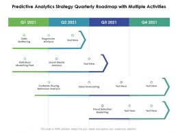 Predictive Analytics Strategy Quarterly Roadmap With Multiple Activities