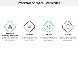 Predictive Analytics Techniques Ppt Powerpoint Presentation Infographic Template Introduction Cpb