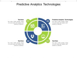 Predictive Analytics Technologies Ppt Powerpoint Presentation Pictures Templates Cpb