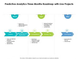 Predictive Analytics Three Months Roadmap With Live Projects