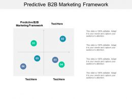 Predictive B2B Marketing Framework Ppt Powerpoint Presentation Styles Designs Cpb