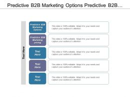 Predictive B2b Marketing Options Predictive B2b Marketing Pricing Cpb