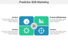 Predictive B2B Marketing Ppt Powerpoint Presentation Show Outline Cpb