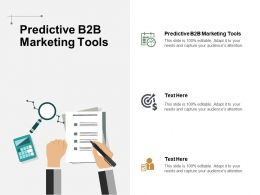 Predictive B2B Marketing Tools Ppt Powerpoint Presentation Summary Sample Cpb