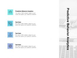 Predictive Behavior Analytics Ppt Powerpoint Presentation Icon Maker Cpb