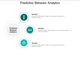 Predictive Behavior Analytics Ppt Powerpoint Presentation Infographics Deck Cpb