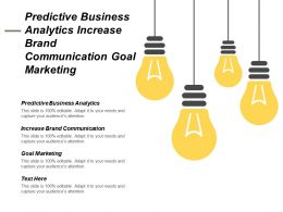 Predictive Business Analytics Increase Brand Communication Goal Marketing Cpb