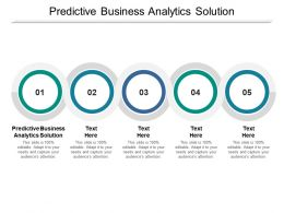 Predictive Business Analytics Solution Ppt Powerpoint Presentation Outline Styles Cpb