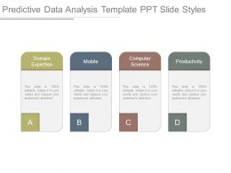 Predictive Data Analysis Template Ppt Slide Styles