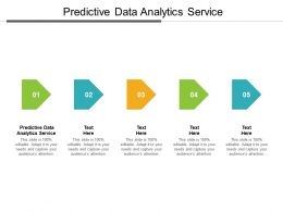 Predictive Data Analytics Service Ppt Powerpoint Presentation Model Pictures Cpb