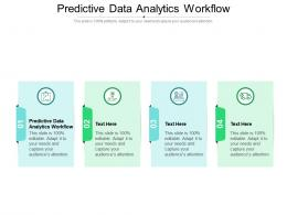 Predictive Data Analytics Workflow Ppt Powerpoint Presentation Pictures Demonstration Cpb