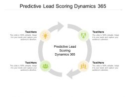 Predictive Lead Scoring Dynamics 365 Ppt Powerpoint Infographic Cpb