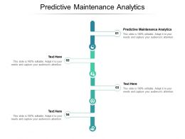 Predictive Maintenance Analytics Ppt Powerpoint Presentation Infographics Shapes Cpb