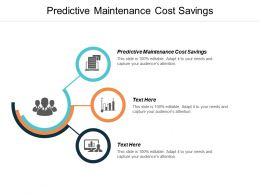 Predictive Maintenance Cost Savings Ppt Powerpoint Presentation Slides Topics Cpb