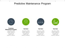 Predictive Maintenance Program Ppt Powerpoint Presentation Ideas Example Cpb