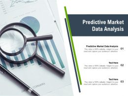 Predictive Market Data Analysis Ppt Powerpoint Presentation Icon Templates Cpb