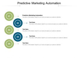 Predictive Marketing Automation Ppt Powerpoint Presentation Styles Graphic Tips Cpb