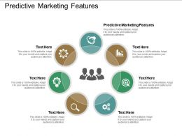 Predictive Marketing Features Ppt Powerpoint Presentation Visual Aids Icon Cpb
