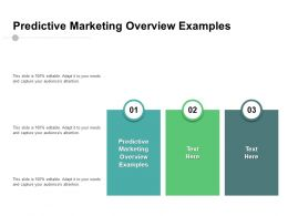 Predictive Marketing Overview Examples Ppt Powerpoint Presentation Show Influencers Cpb