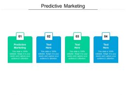 Predictive Marketing Ppt Powerpoint Presentation Infographics Format Ideas Cpb