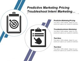 Predictive Marketing Pricing Troubleshoot Intent Marketing Troubleshoot Predictive Marketing Cpb