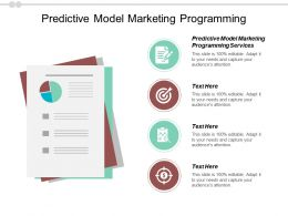 Predictive Model Marketing Programming Ppt Powerpoint Presentation Summary Good Cpb