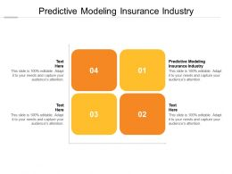 Predictive Modeling Insurance Industry Ppt Powerpoint Presentation Inspiration Summary Cpb