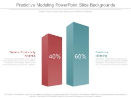 Predictive Modeling Powerpoint Slide Backgrounds