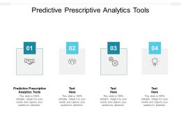 Predictive Prescriptive Analytics Tools Ppt Powerpoint Presentation Outline Vector Cpb