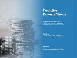 Predictive Revenue Stream Ppt Powerpoint Presentation Ideas Brochure Cpb