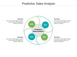 Predictive Sales Analysis Ppt Powerpoint Presentation File Influencers Cpb