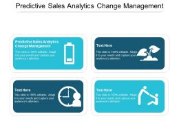 Predictive Sales Analytics Change Management Ppt Powerpoint Presentation Inspiration Aids Cpb
