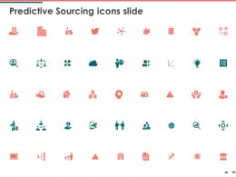 Predictive Sourcing Icons Slide Gears Checklist Ppt Powerpoint Presentation Outline Topics