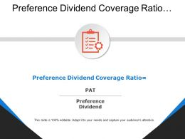 Preference Dividend Coverage Ratio Gear And Board Image