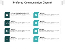 Preferred Communication Channel Ppt Powerpoint Presentation Professional Backgrounds Cpb