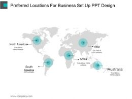 Preferred Locations For Business Set Up Ppt Design