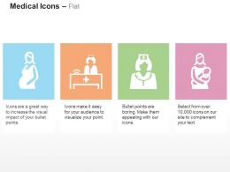 Pregnant Woman Medical Receptionist Nurse Childcare Ppt Icons Graphics