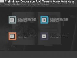 Preliminary Discussion And Results Powerpoint Ideas