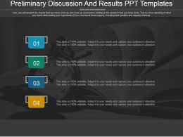 Preliminary Discussion And Results Ppt Templates