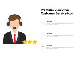 Premium Executive Customer Service Icon