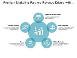 Premium Marketing Partners Revenue Drivers With Icons