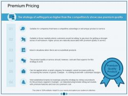 Premium Pricing Volume Of Goods Ppt Powerpoint Presentation Infographics Outline