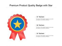 Premium Product Quality Badge With Star