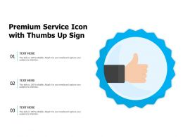 Premium Service Icon With Thumbs Up Sign